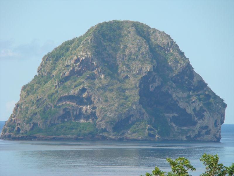 Le rocher du Diamant en Martinique