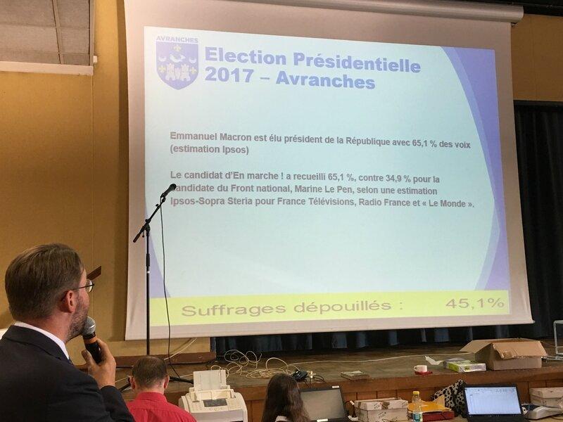 Avranches David Nicolas maire résultat élection présidentielle 2017 second tour