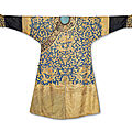 A rare imperial gold, silver and copperkesidragon robe,longpao, qing dynasty, 19th century