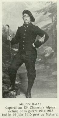 Maurice Balas chasseur