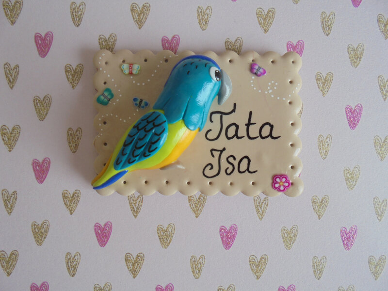 badge perroquet