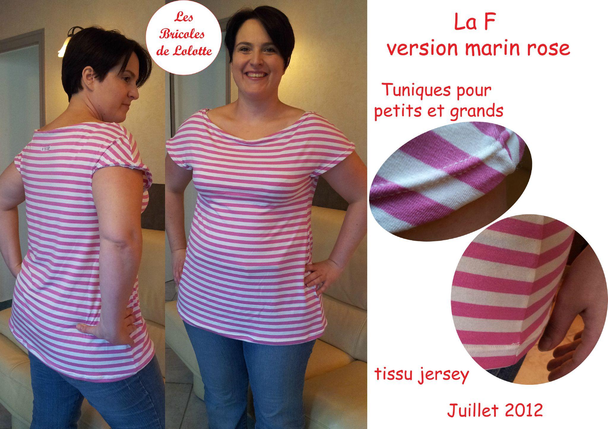 tunique F - version marin rose copie