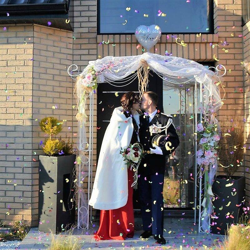 Arche de mariage fleurie