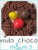 Nids chocolat aux oeufs M&M's index