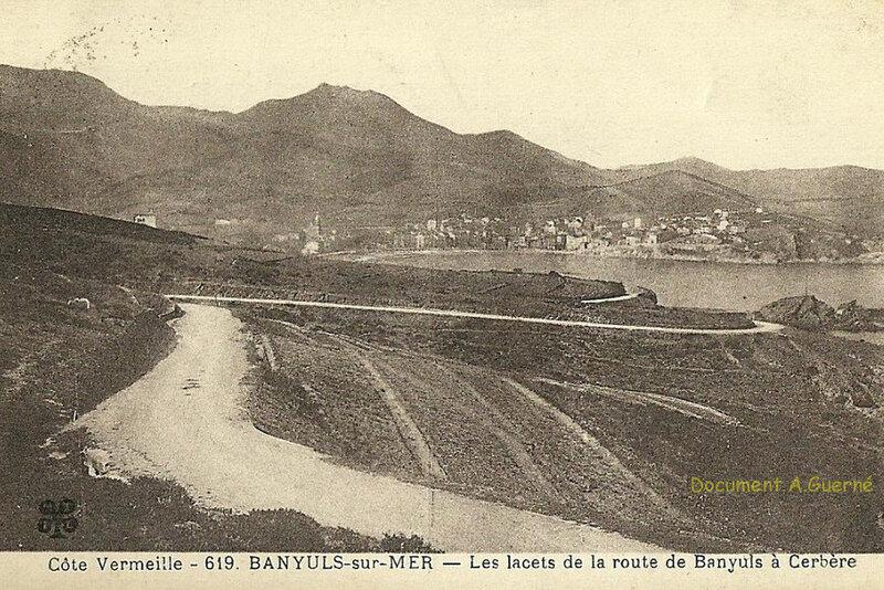 606 Les lacets de la route de Banyuls à Cerbère 1931