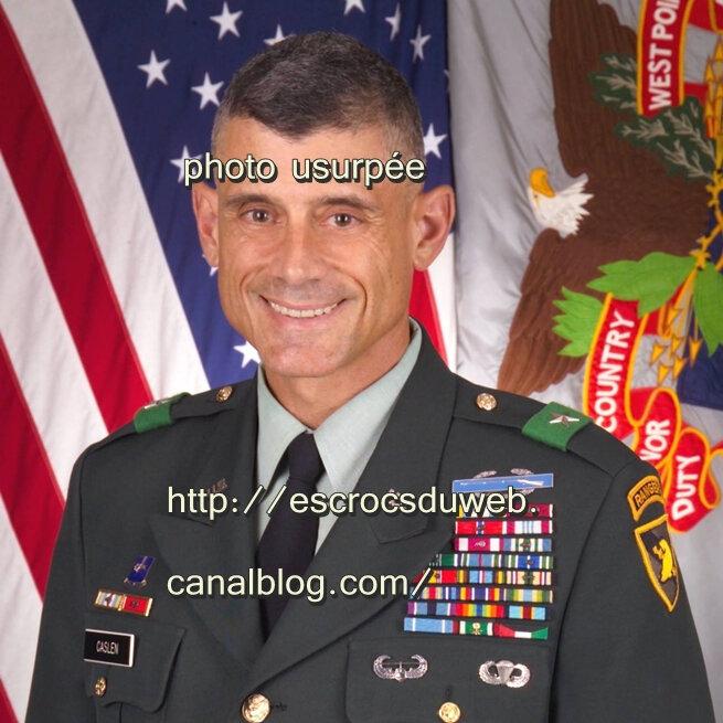 Robert Louis Caslen , officier, États Unis , usurpé