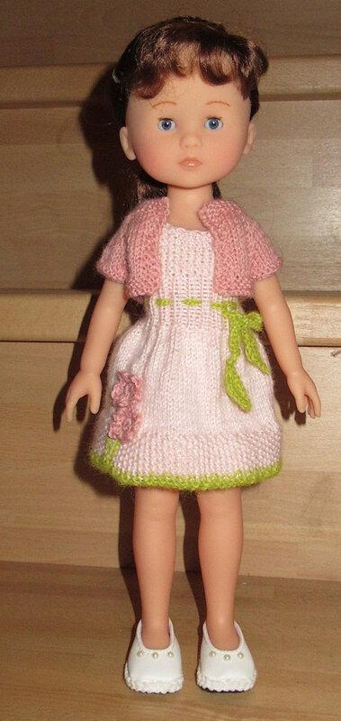 20190311 défi tricot poupées 32 cm robe de printemps 01