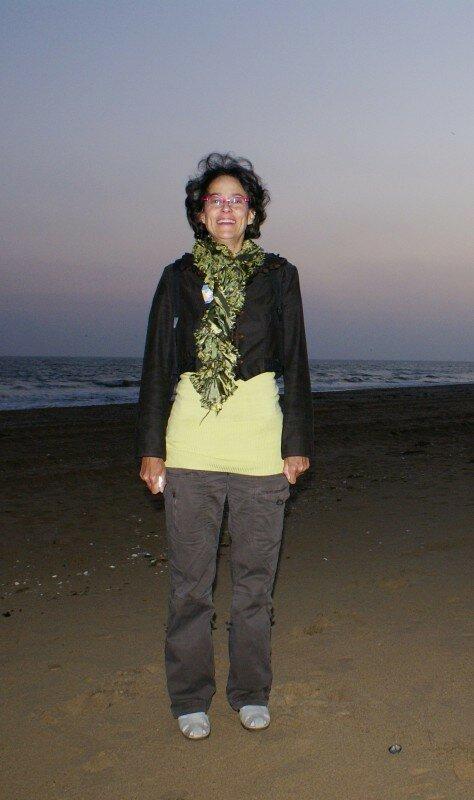 Pascale Ch sur la plage