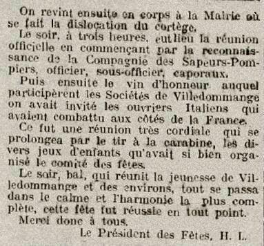 1920 14 Juillet 2