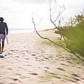 L'enfant perdu sur la plage - cap ferret