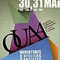 Ouvertures d'ateliers d'artistes à nancy les 30 et 31 mai 2015!