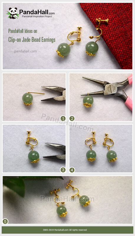 2-PandaHall-Ideas-on-Clip-on-Jade-Bead-Earrings