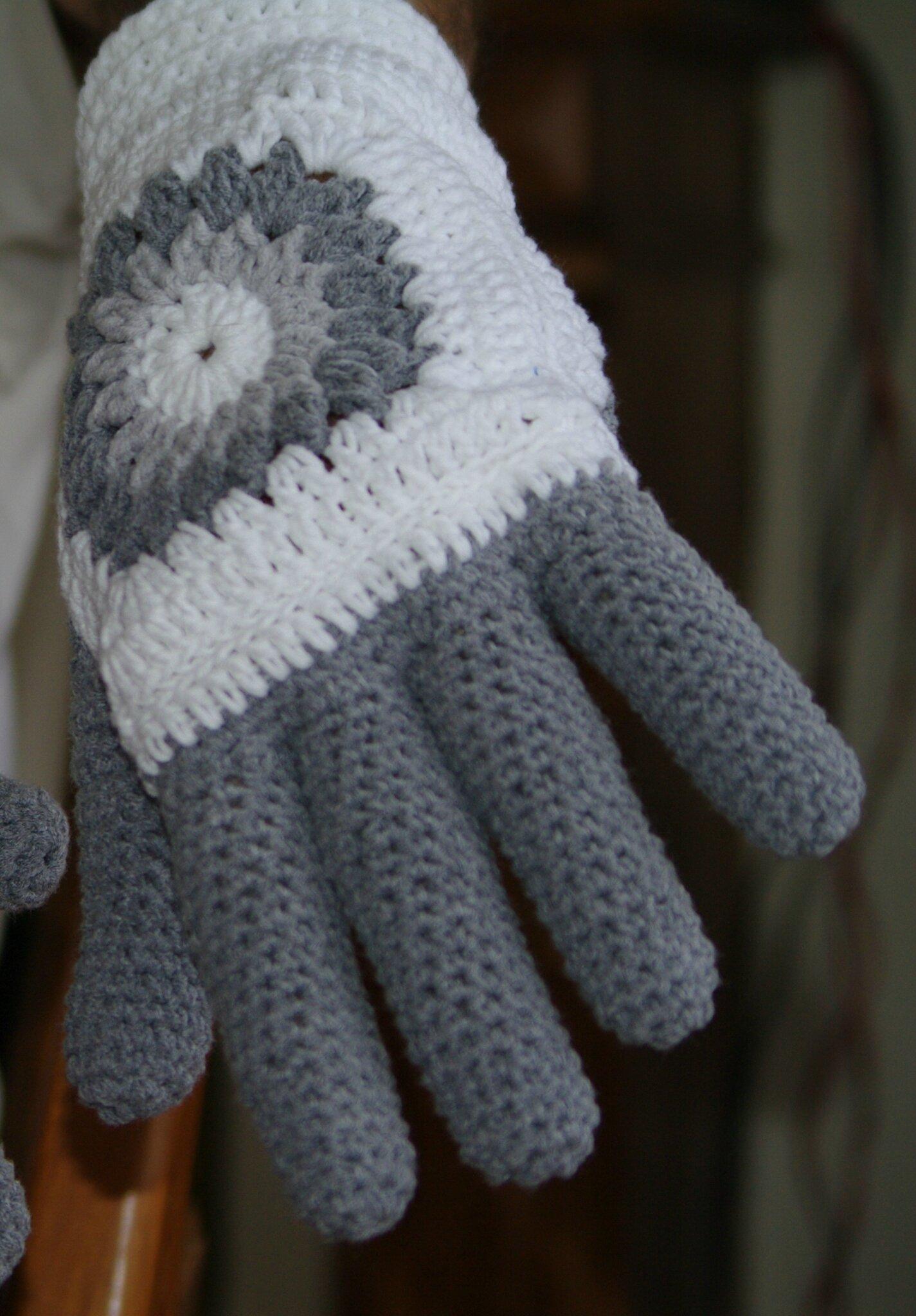 gants pour homme au crochet