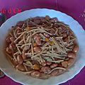 Soupe de petits spaghettis et haricots borlotti frais