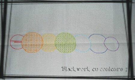 Blackwork en couleurs 7 ensemble
