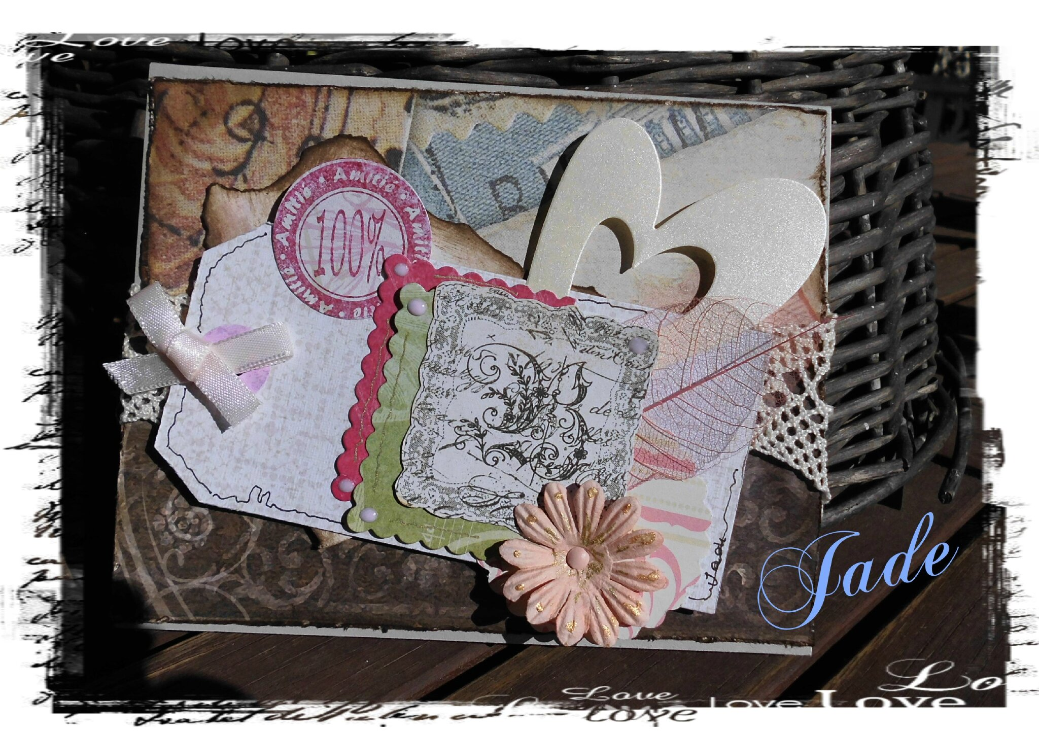Shabby pour du scrap copines