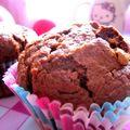 Muffins au chocolat, coeur de speculoos