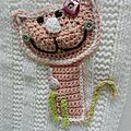 Cat and Flowers Blanket 1