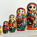 Déco ... poupees russes * 5 poupées