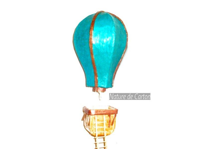 Montgolfière Turquoise