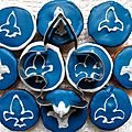 White (and blue) cupcakes pour fêter le québec !