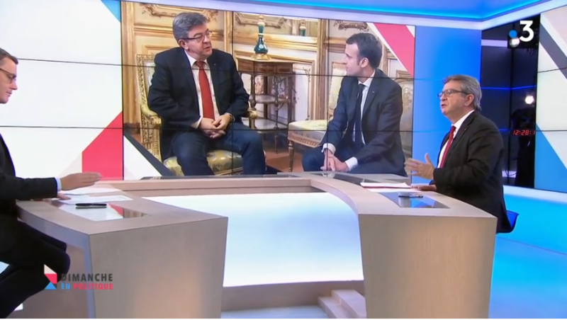 MELENCHON AVEC MACRON MEDIA DIXIT WORLD