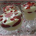 Creme de lait avec fraises ! (leite creme com morangos )