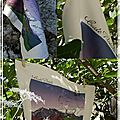 La carte postale en tissu