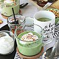 Soupe de salade verte à la poudre de bacon