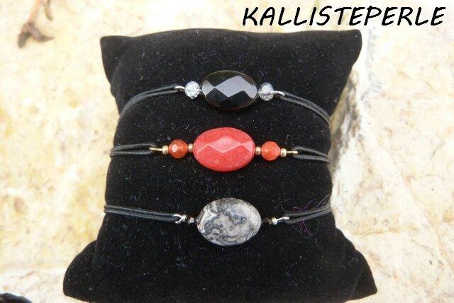 bracelets elastique pierres fines
