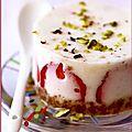 Cheese cake agar-agar aux fraises