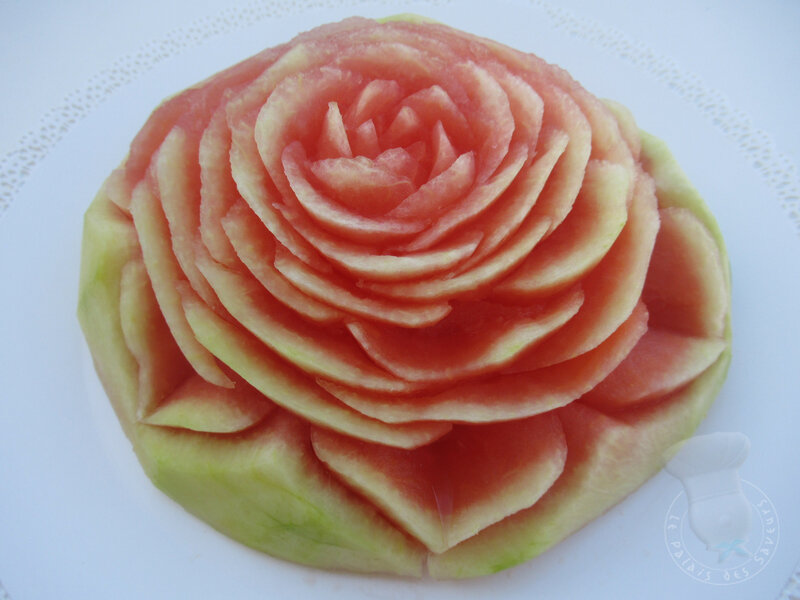 Fleur sur pastèque #2