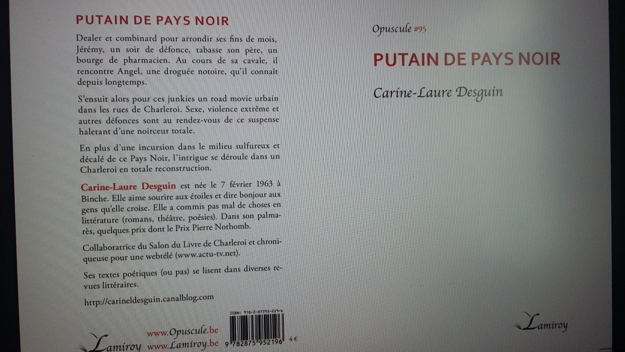 PUTAIN DE PAYS NOIR, Editions Lamiroy (collection Opuscules)