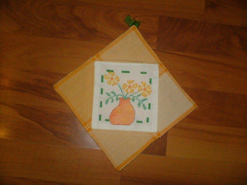 manique brodée décorative de l'échange cuisine pour Anna