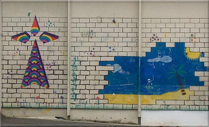 street art hermine cour ecole