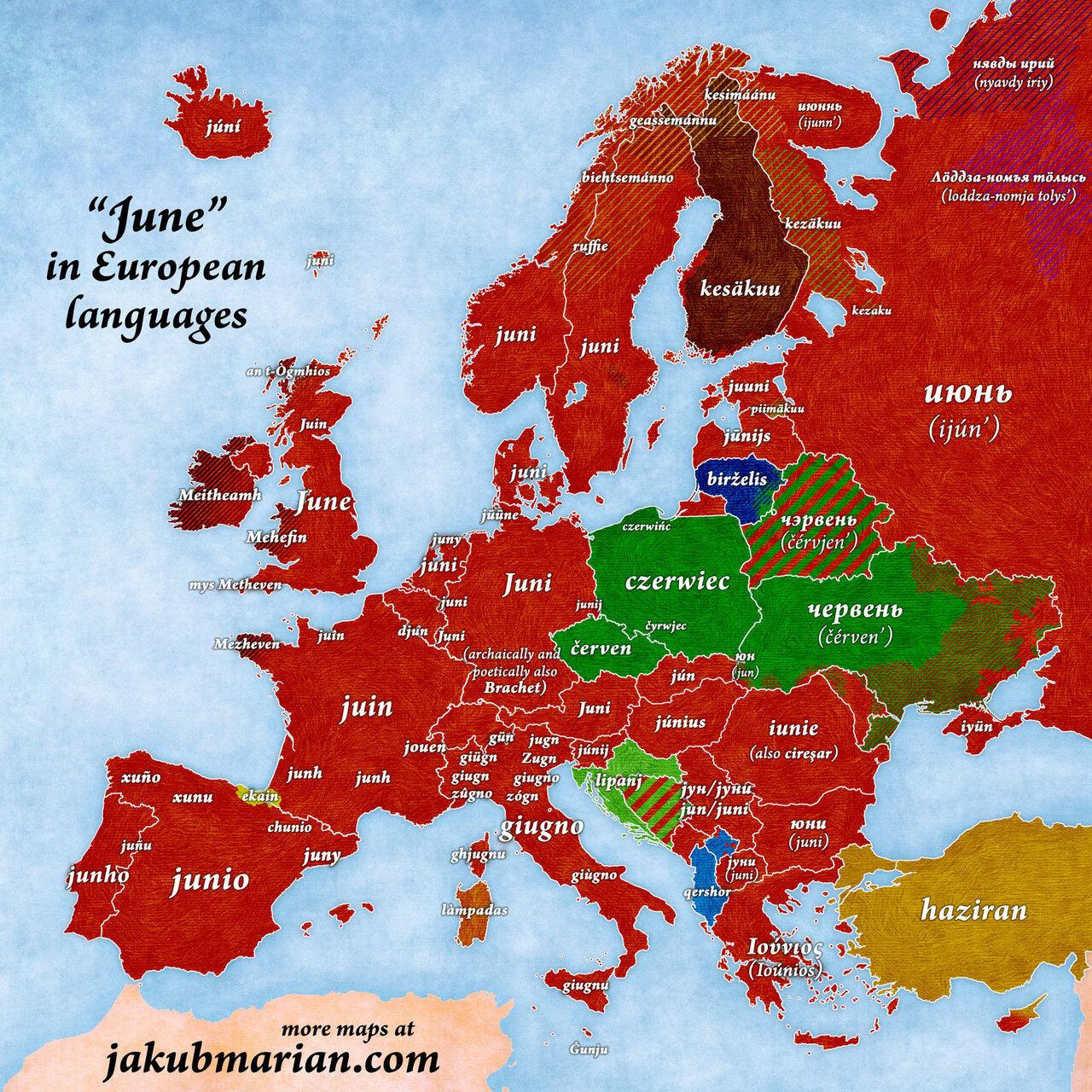 moi de juin en europe
