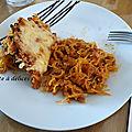 Courge spaghetti farcie à la viande hachée