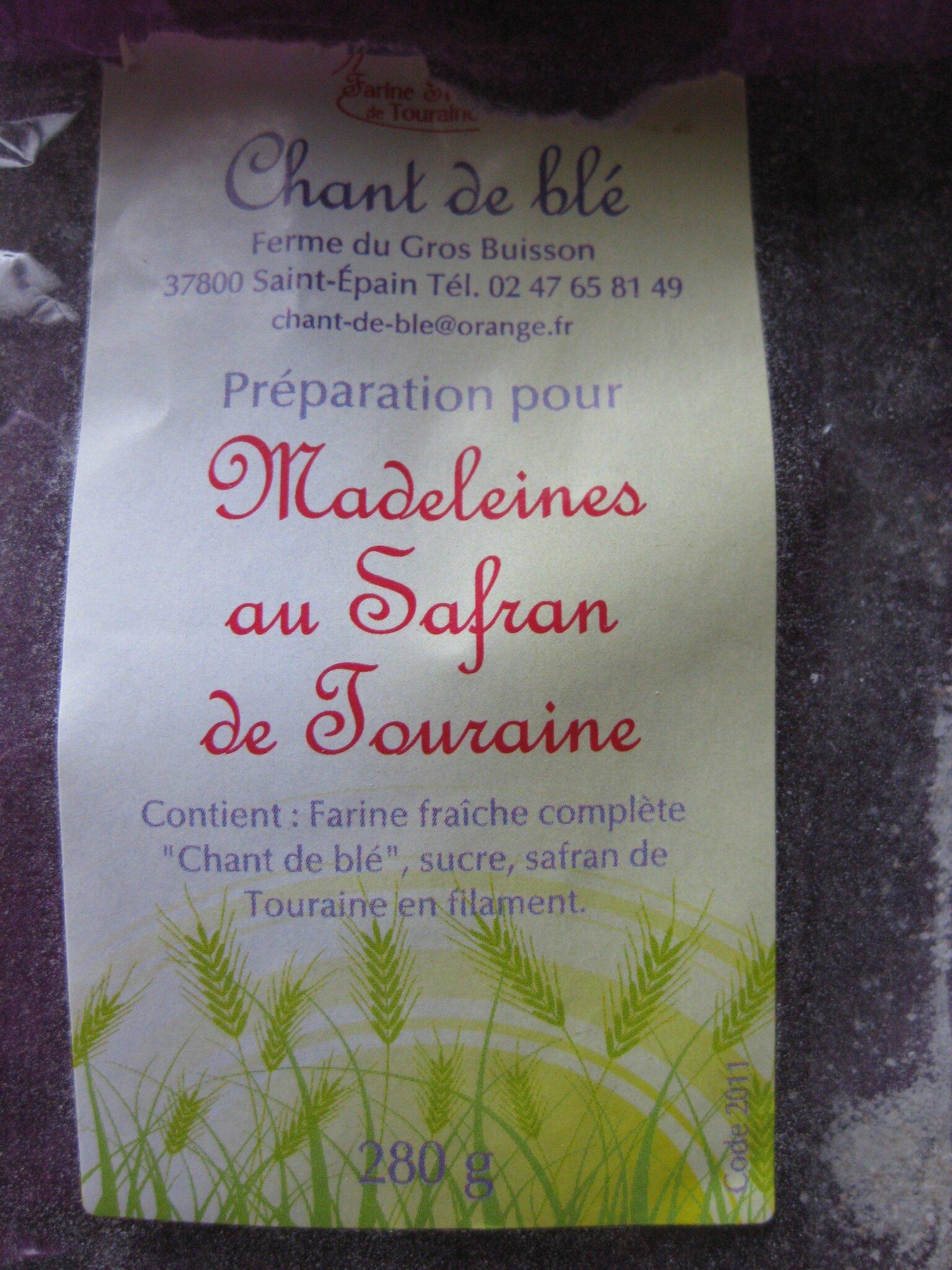 PREPARATION POUR MADELEIE AU SAFRAN