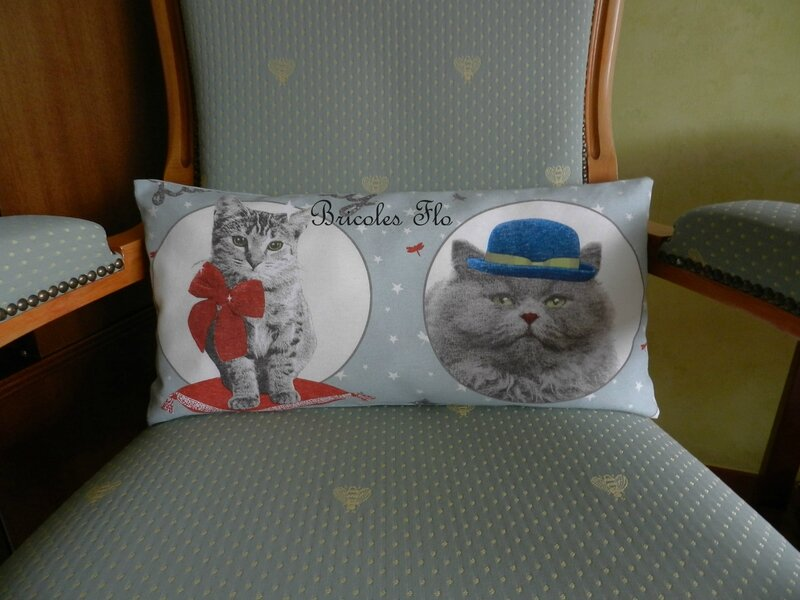 Coussin rectangulaire chats
