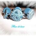bracelet bleu et noir S+ masque