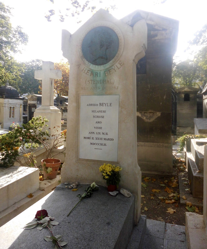 tombe Stendhal, cimetière Montmartre, 20 oct 2014