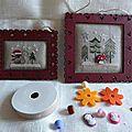 Petites décorations fin et aquarelle de noël