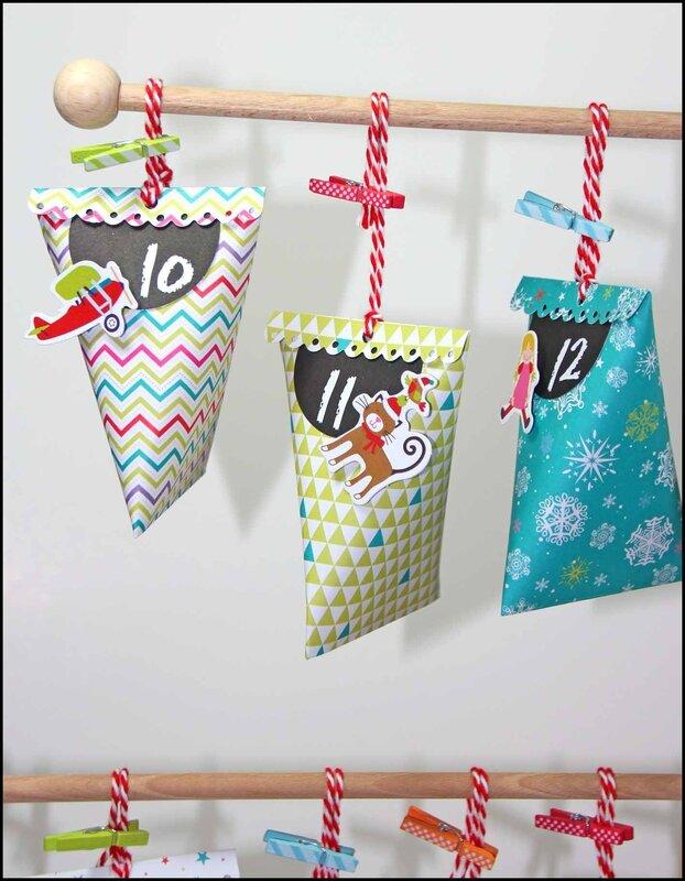 Kit calendrier de l'Avent Noel au pays des jouets - DT TACHA 3P