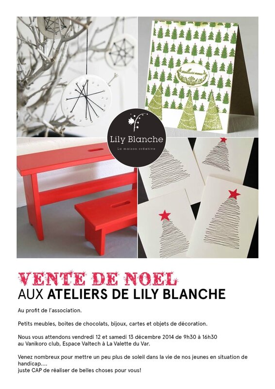 affiche atelier Lily blanche