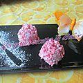 Riz japonais au lait de coco et framboises