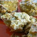 Muffins de brocolis au fromage blanc et flocons d'avoine