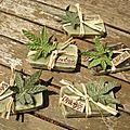 Emballage savons cannabis