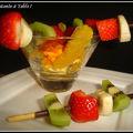 brochettes mikado aux fruits de saison