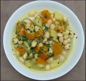 Soupe de paimpol à l'italienne