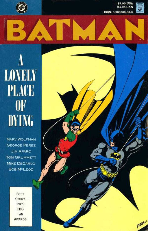 batman a lonely place of dying TPB